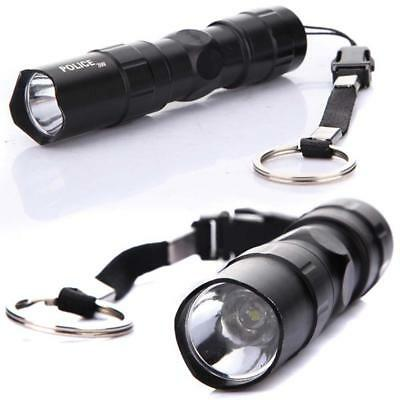 Police Waterproof Flashlight 3W LED Mini Penlight Small Torch Lamp AA Battery Br