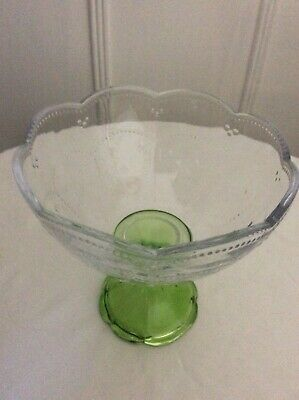 Vintage Depression Glass Pedestal Candy Dish, 5""