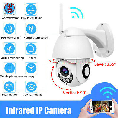 2MP Outdoor Waterproof Wireless WiFi HD 1080P Security IP Camera Night Vision