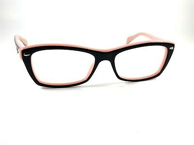 abf1ba61ccc48 Authentic Ray Ban RB5255 5024 Women s Black on Pink Rx Eyeglasses Frames  53 16