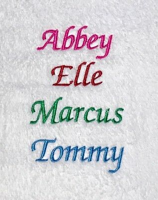 Kids Bathrobes - Included with 1 Embroidered Name - 100% Cotton Terry Towelling