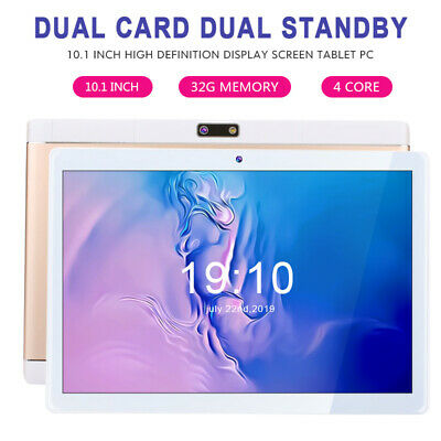 "HD 10.1"" Tablet Quad Core 1G+32G Android 3G Wifi Bluetooth Call PC Laptop Camera"