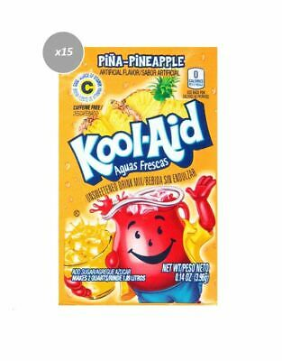 911058 15 x 3.9g PACKETS KOOL AID UNSWEETENED DRINK MIX PINA-PINEAPPLE FLAVOUR