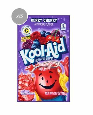 915058 15 x 4.8g PACKETS KOOL AID UNSWEETENED DRINK MIX BERRY CHERRY FLAVOUR