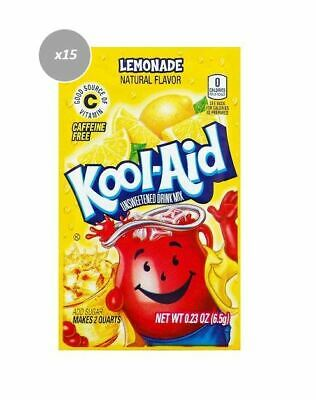 903177 15 x 6.5g PACKETS KOOL AID UNSWEETENED DRINK MIX LEMONADE FLAVOUR