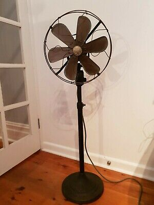 Reproduction General Electric Oscillating Cast Iron Floor Fan w/ Copper Blade