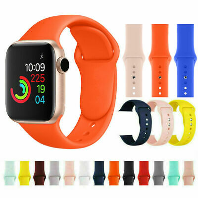 Silicone Soft Sports Replacement Strap Band For Apple Watch Series 4/3/2 38/42mm