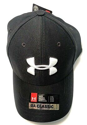 best website c0ba6 0ae9b Men s Under Armour UA Classic Fit 100% Polyester Stretch Fit Hat Baseball  Cap