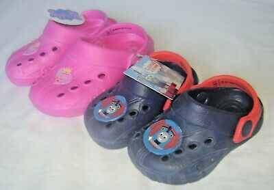Bnwt Kids Clogs Summer Shoes Sandles Peppa Pig /Thomas The Tank Size 4 - 9