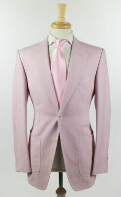 NWT Tom Ford Pink 100% Cotton Woven 2 Button Suit 48/38 R