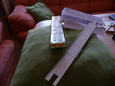 alter Rechenschieber Faber Castell System Rietz 1/87 edel Holz slide rule in BOX