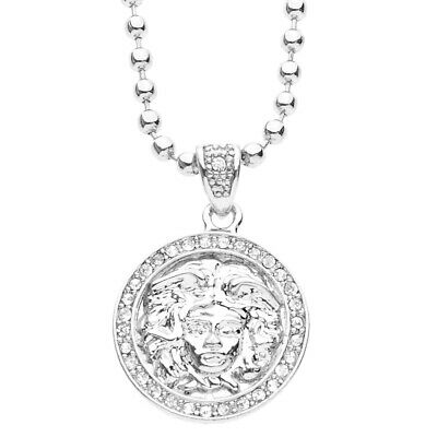 Iced Out Bling Fashion Kette - MICRO MEDUSA silber