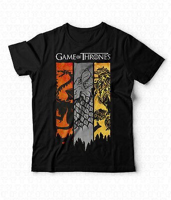 T-Shirt Game of Thrones Tshirt Trono di Spade Strark GOT Targaryen Lannister Jon