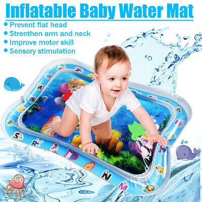 Baby Water Play Mat Inflatable Infants Toddlers Fun Tummy Time Activity Center