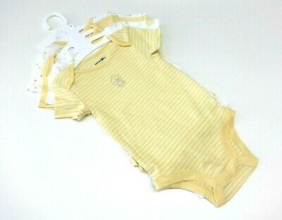 Baby 4-er Pack Bodies 80-86 USA size 24 mon Unterwäsche Body unisex gelb neutral