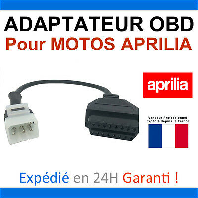 Adapter Motorrad Aprilia OBDII für Software Tune ECU - Multidiag Altar Launch