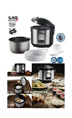 Electric Rice Steam Cooker Maker Warmer Steamer Steamed Non Stick 1 L