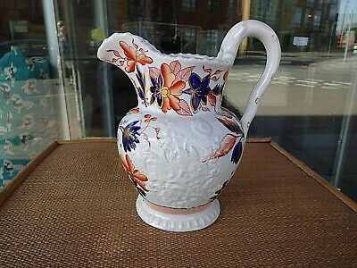 Georgian Gaudy Welsh Jug Pitcher John & Richard Riley C1820 as found
