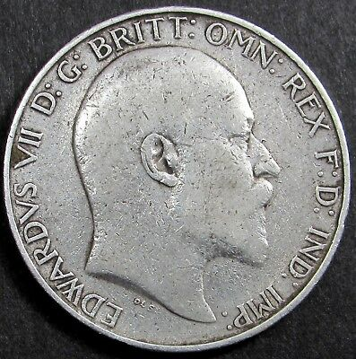 KING EDWARD VII  SILVER  FLORIN/ TWO SHILLINGS COIN dated 1907