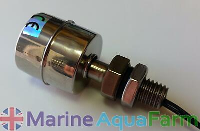AQUARIUM STAINLESS STEEL FLOAT VALVE SWITCH 61mm, AUTO TOP UP PUMP, MARINE SUMP