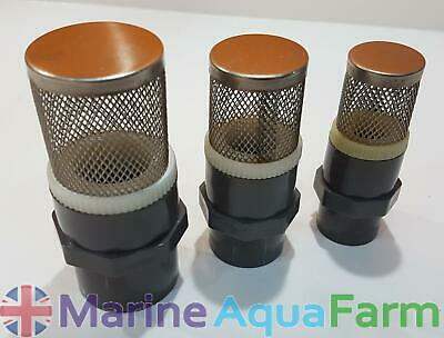Aquarium Stainless Steel Outflow Strainer 3 Sizes Available, Solvent Weld Pip...