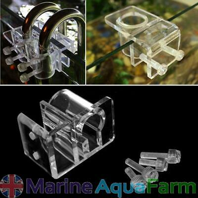 AQUARIUM ACRYLIC 20mm PIPE HOLDER, FILTER OUTLET INLET TUBE, REEF MARINE
