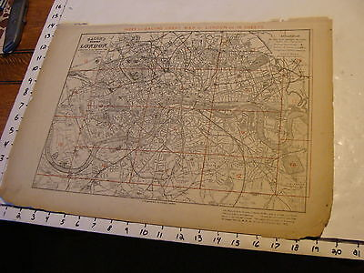 Bacon's London 1880's map: MODERN LONDON INDEX MAP of all 18