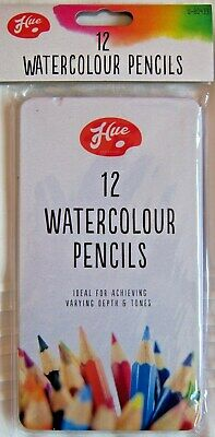 12 X Bright Bold WATERCOLOUR ARTIST PENCILS Painting Drawing Sketching Colour
