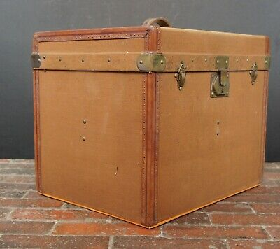Pristine Antique French Trunk With Storm Cover