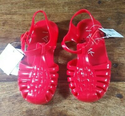 Girls Red Jelly Shoes Jellies Plastic Sandals By Next Size 5 Brand New With Tags