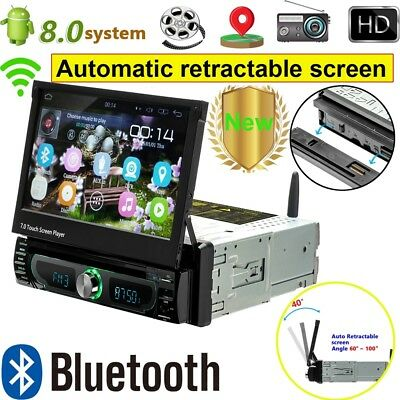 "Autoradio Mit Android 8.0 Wifi Dvd Gps Navi Usb Sd Bluetooth 7"" Monitor 1 Din"