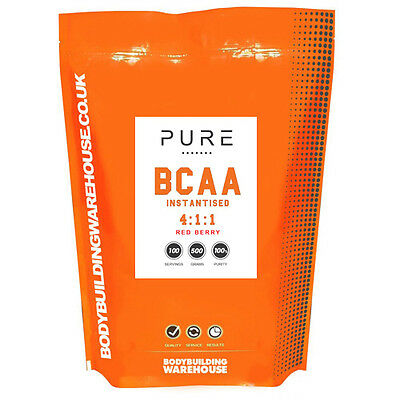 INSTANTISED BCAA AMINO ACID POWDER 4:1:1 - 1KG (200 Serving) - RED BERRY FLAVOUR