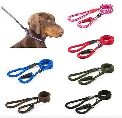 ANCOL DOG Strong Soft Nylon Slip Rope Lead Red Black Blue Pink Green Brown Leads