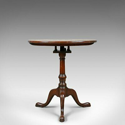 Antique Tilt-Top Side Table, English, Georgian, Mahogany, Wine, Circa 1800