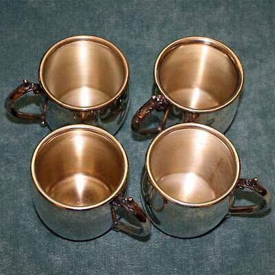 """Set of 4 Vintage Towle Silver Plate Cups 2.5"""" Tall, 5 Sets Available"""