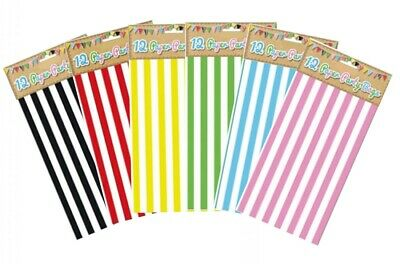 Pick n Mix | Candy Stripe Sweet | Popcorn | Thick Paper Bags - CHOOSE COLOUR