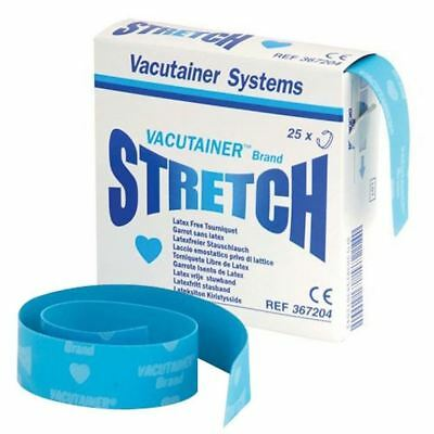 BD Vacutainer Stretch Tourniquet Latex Free Size Small, Pack of 25