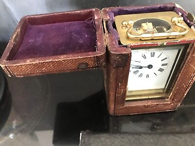 carriage clock And Carrying Case
