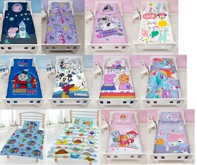 Disney Character Junior Toddler Or Cot - Kids Duvet Cover & Pillow Case Bed Set