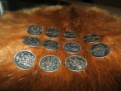 Lot of 11...1968 - 2005 fifty cent pcs...free ship in Canada...try an offer!!!