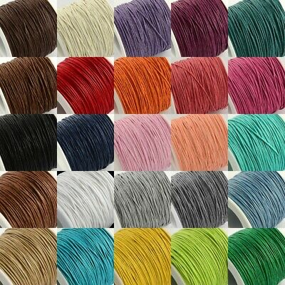 80M Waxed Cotton Cord String Thread Beading Leathercraft Making 1mm PICK COLOR