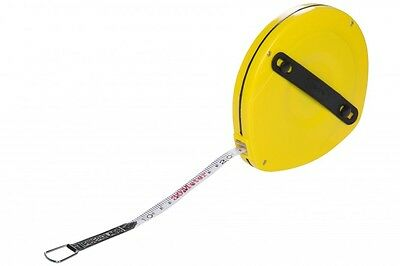 30 Mtr Surveyors Tape Measure Fibreglass Tape Metric & Imperial Measurements