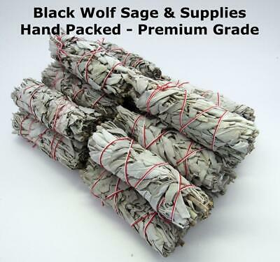 "Wholesale Bulk White Sage Smudge Bundle 4"" Long. 20 Pack. (Premium Grade) Smudge"