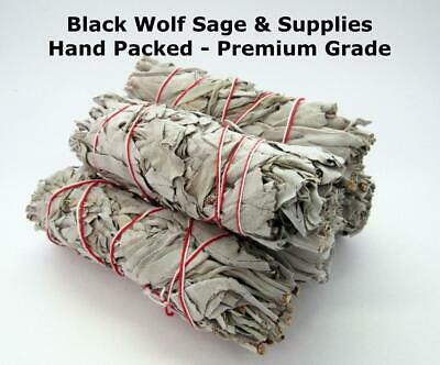 "Wholesale Bulk White Sage Smudge Bundle 4"" Long. 5 Pack. (Premium Grade) Smudge"