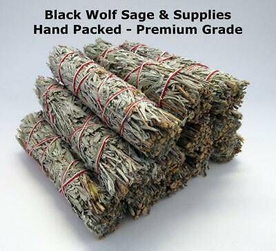 "Wholesale Bulk Blue Sage Smudge Bundle 4"" Long. 12 Pack. (Premium Grade) Smudge"