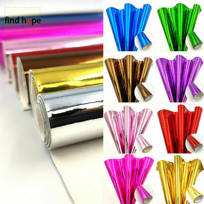 Mirror Glossy PU Leather Fabric Sheets Laser Fabric DIY Bag Cover Sewing Craft