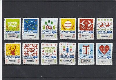 France 2018 Timbres A Gratter Serie Complete De 12 Timbres Obliteres