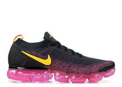 NEW Nike Air Vapormax Flyknit 2 Men's Running Gridiron Pink Orange 942842-008