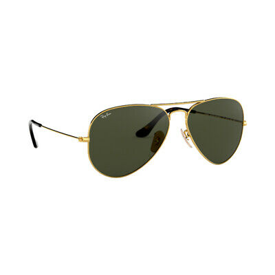 1a38ca8dc73c2 Authentic Ray Ban Aviator Large Metal Sunglasses RB3025 181 Gold Green Lens  62mm