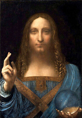 Leonardo da Vinci   Salvator Mundi  Wall Art  Canvas